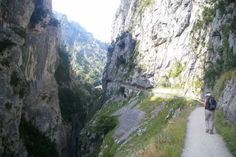 Walking along the Cares Gorge