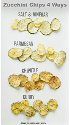 beautifulpicturesofhealthyfood:  Baked Zucchini Chips 4 Ways || RECIPE