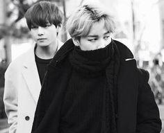 Jimin and Taehyung | BTS | b&w