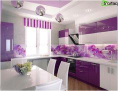 Rohová kuchynská linka - Top 50 fotografií v interiéri s kuchynským kútom Kitchen Tops, Vanity, Mirror, House, Furniture, Design, Home Decor, Vanity Area, Homemade Home Decor