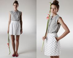 Love this - Johanna Boat Skirt Fashion Essentials, Style Essentials, Family Affair, Refashion, Spring Summer Fashion, Style Inspiration, Summer Dresses, Sailboat, My Love