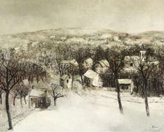 Leo Piron (Belgian, 1899-1962), Village in the snow, c.1930. Canvas, 80.5 x 102 cm.