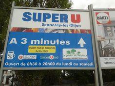 Le jardin de Faustine apparaît sur les panneaux de SUPER U Sennecey les Dijon (par Stéphane Malou Créamir)