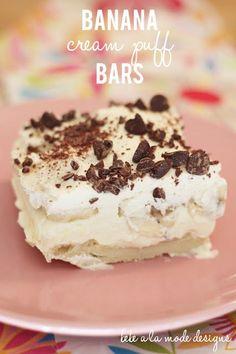 Banana Cream Puff Bars - oh wow!