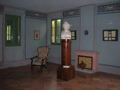 Casa Monti (interno; busto marmoreo del poeta, opera di Cincinnato Baruzzi, allievo del Canova) #Alfonsine