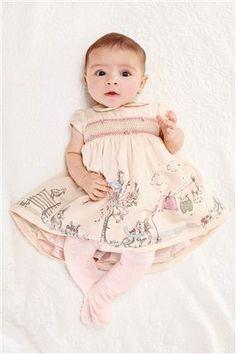 Pink Bunny Scene Prom Dress (0-18mths) #easter #dress