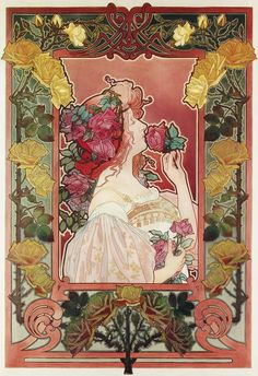 El aroma de la rosa por Privat Livemont @Olibanum cuaderno de perfumes.