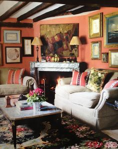 cottage rooms with floral rugs - Google Search