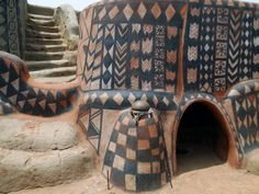 The Tiebele house decorations of Burkina Faso, Africa  