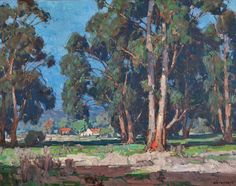 Fig. 5: Edgar Alwin Payne (1883–1947) Untitled [Eucalyptus Landscape, California], n.d. Oil on canvas, 32 x 40 inches Private collection