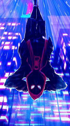 Miles Morales - Ultimate Spider-Man, Into the Spider-Verse Amazing Spiderman, Black Spiderman, Spiderman Spider, Marvel Comic Universe, Marvel Art, Marvel Heroes, Marvel Avengers, Man Wallpaper, Avengers Wallpaper