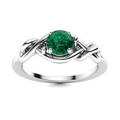 This gorgeous Emerald ring features a single luminous gemstones set amidst entwined bands of lustrous 14k White Gold to create an exquisitely delicate and a gracefully stylish look. Natural Emerald Rings, May Birthday, Afternoon Tea Parties, Love Ring, Solitaire Ring, Shades Of Green, Vintage Rings, Ring Designs, Tea Party