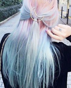 #hairinspiration #unicornhair #mermaidhair #diyhair #hair