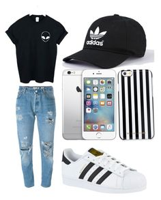 """Untitled #17"" by martineeikefjord on Polyvore featuring Levi's, adidas, WithChic and MICHAEL Michael Kors"