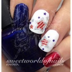 of July Nail Art Water Decals Glitter Stars American Flag Nails of July Nail Art Water Decals Glitter Stars American Flag Fourth of July Nails Holiday Nail Designs, Holiday Nails, Nail Art Designs, Nails Design, Fingernail Designs, Holiday Ideas, Fancy Nails, Love Nails, Pretty Nails