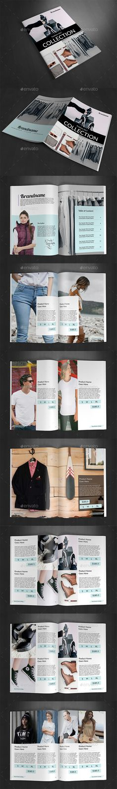 Product Fashion Catalog — InDesign INDD #catalog #print • Download ➝ https://graphicriver.net/item/product-fashion-catalog/19244001?ref=pxcr