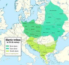 Slavic tribes from the 7th to 9th centuries in Europe [1520x1442]