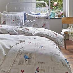 Ariane at Home Bird Song - www.smulderstextiel.nl - #birds #canary #vogel #lifestyle #sheets #beddengoed #bedding #modern #bedroom #bed #slaapkamer #dessin
