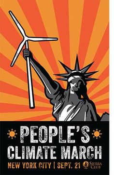 America wants renewable energy! People's Climate March poster from the Sierra Club. #PeoplesClimate #ClimateMarch