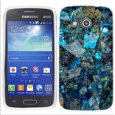 Samsung Galaxy Avant Blue Stone cover - Cell Cases USA