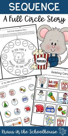 If You Take a Mouse to the Movies by Laura Numeroff is a great book to help students practice sequencing. This full circle story provides students with opportunities to retell a story in the correct order.  #sequencing