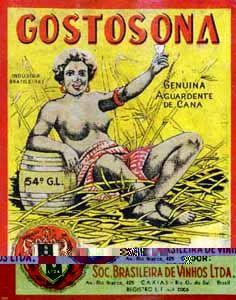 Rótulo de Cachaça Gostosona