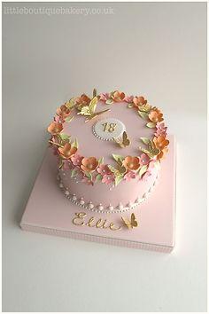 Butterfly Birthday Cakes, Sweet 16 Birthday Cake, Elegant Birthday Cakes, Birthday Cake With Flowers, 18th Birthday Cake, Beautiful Birthday Cakes, Butterfly Cakes, Cakes With Butterflies, Grandma Birthday Cakes
