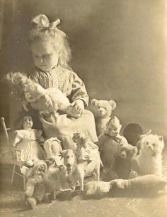 with dolls