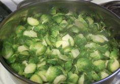 Brussels' sprouts with fennel seeds.  My #1 son, Sean's, favorite.
