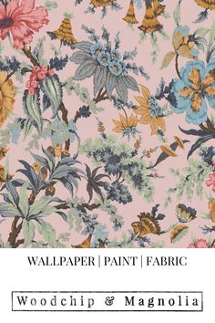 Proudly made in our little design studio in Lancashire, England we print to order and accept wallpaper returns. Floral Print Wallpaper, Floral Prints, Wallpaper Samples, Wallpaper Roll, Magnolia Paint, Design Repeats, Pink Clouds, Little Designs, Beautiful Interiors