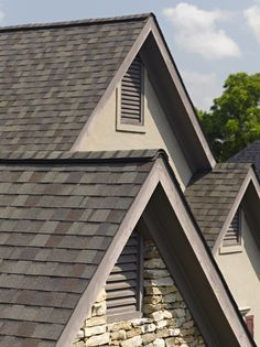 Our roof, CertainTeed Landmark shingle in Weathered Wood Certainteed Shingles, Asphalt Roof Shingles, Roofing Shingles, Metal Roofing Systems, Roofing Options, Roof Shingle Colors, Metal Roof Colors, Driftwood Shingles, Gambrel Roof