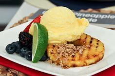 Grilled Pineapple a la mode, love pineapple yumm
