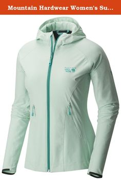 Mountain Hardwear Women's Super Chockstone Jacket, Sea Ice, M. Lightweight, wind-resistant alpine and rock-climbing jacket with UPF 50. The double-weave fabric is light, stretchy, and offers excellent mobility. Boasting UPF 50 for sun protection and a waist cinch that's single-hand adjustable, the Super Chockstone Jacket makes a great second layer for most alpine pursuits. 90% nylon, 10% elastane. Abrasion-resistant, air-permeable, lightweight softshell fabric, low-profile hood for snug…