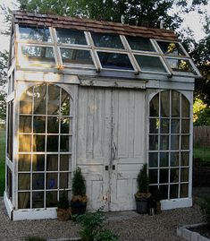 reclaimed greenhouse/potting shed