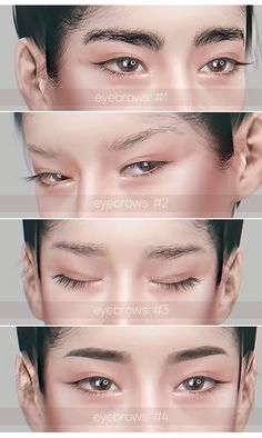 eyebrows set for The Sims 4 by Lipaluci