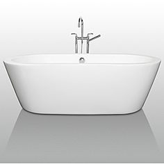 @Overstock - The Mermaid Soaking Tub is an expression of modern design, practicality and just plain luxury. Elegant symmetry, soft curves that counter the minimalist lines, and soothing water conspire to coax you into your bathroom haven once again.http://www.overstock.com/Home-Garden/Mermaid-Free-Standing-71-inch-Soaking-Bathtub/6462677/product.html?CID=214117 $1,425.95