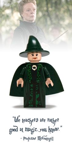 Professor McGonagall Lego Minifigure - Harry Potter Collectibles