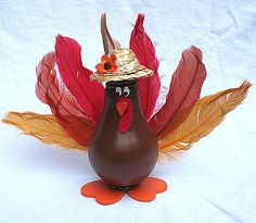 Thanksgiving Crafts for Adults | Light Bulb Turkey - Crafts by Amanda