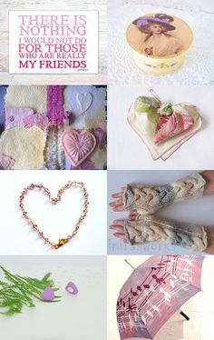 Hearts  for my friends.. by Gabriella P. on Etsy--Pinned with TreasuryPin.com...included my purse....