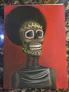 Nina Simone Dia De Los Muertos tribute. #diadelosmuertos #dayofthedead #blackpaperart