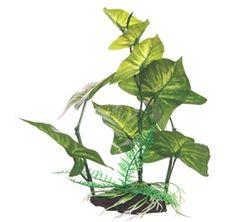 Petco Amazon Sword Green Plastic Aquarium Plant My pet