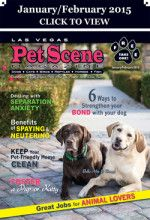 Las Vegas Pet Scene Magazine - January/February 2015 Inside This Issue: 6 Ways to Strengthen your bond with your dog; Dealing with Separation Anxiety; Benefits of Spaying & Neutering; Ways to keep your pet-friendly home clean; Great job for animal lovers; Foster a Pup or Kitty… plus adoptable pets, coupons, pet events and much more!