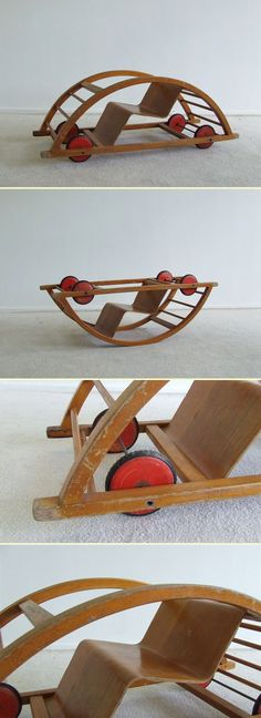 Children Rocking chair by Hans Brockhage (5129)    	  	     Vintage/Patina children rocking chair first series    Designer: Hans Brockhage and Erwin Andra