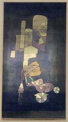 Paul Klee - Ein Mädchen mit Puppenwagen