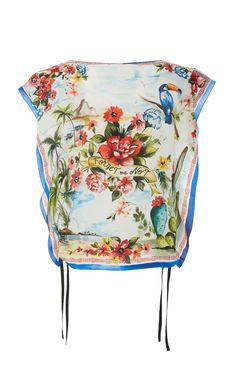 b8e54cb398943a Red Valentino Siesta Dream Printed Silk Top Drawstring Backpack, Valentino,  Prints, Chair,