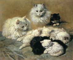 henriette ronner knip cats and kittens paintings