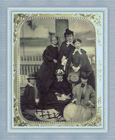 Fanny Sharpe Wetmore and Friends 1863  great group picture...