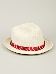 603231337f6 Miansai Men s Panama Hat in red at oki-ni