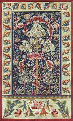 Asters and Acanthus Designed c1890 by Henry Dearle for Morris & Co. Woven in France