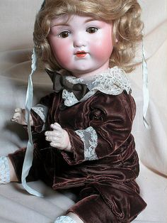 German Arman Marseille 975 Character Baby Doll Bisque Head Doll from annmariesantiquedolls on Ruby Lane